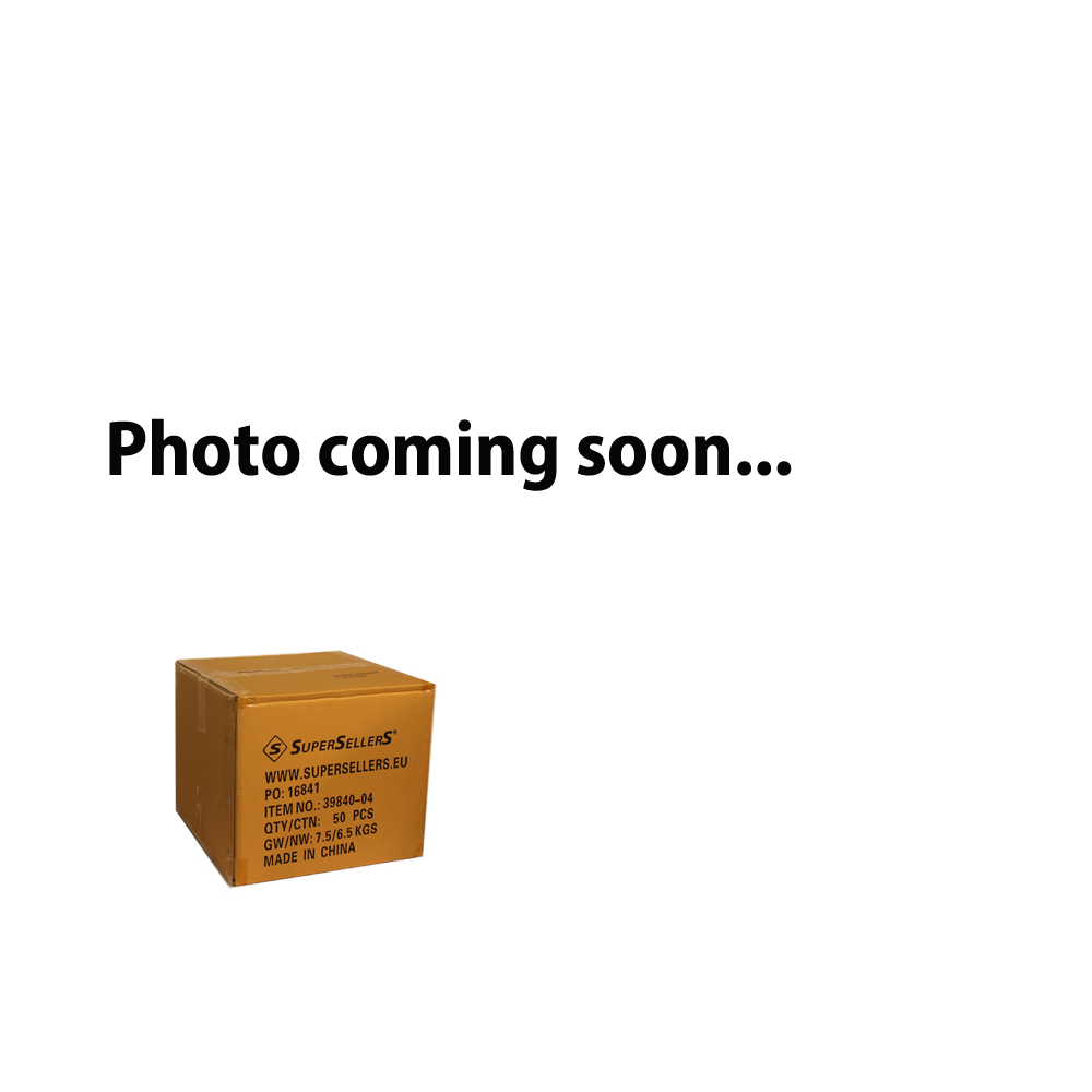 Plastiktüte, schwarz m/Goldblattmuster, 40x5,5xH50