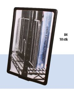 Plastramme med bordholder. A4 - Sort