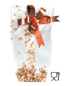 Cellophantüte mit stabilem Boden.- H30 cm.