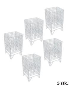 Gitter-Wühlkorb - 5 stk. - Weiß - Nancy 1