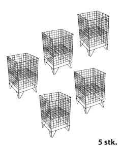Gitter-Wühlkorb - 5 stk. - Schwarz - Nancy 1