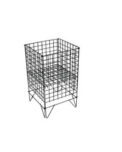 Gitter-Wühlkorb - Schwarz- Nancy 1