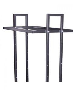 Doppelter Aufhänung - L-Straßenständer  - 90 cm - schwarz