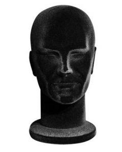 Styropor-Kopf - Männlich - Schwarzes Futter