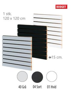 Lamellenwand - Budget (120 x 120 cm.)