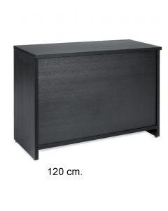 Geschlossene Theke (B 120 cm.) - Schwarz