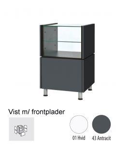 Ladentheke - schmal - mit Glas  - Banko