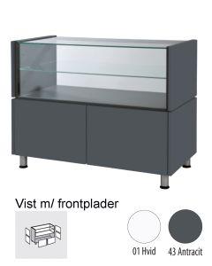 Ladentheke, breit, mit Glas - Banko