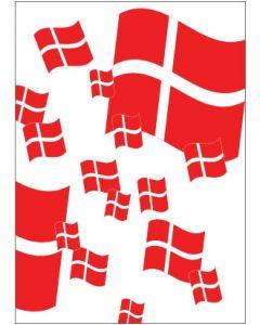 Plakat - Dannebrogs flag - dansk - 50 x 70 cm