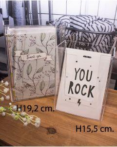 Postkartenhalter - Klar (11,5 x 6,5 x H 15,5 cm.)