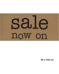 Poster - Sale now on - B 64 x H 30 cm.