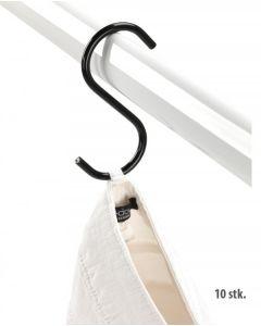 S-Haken  H11,5 cm. - schwarz