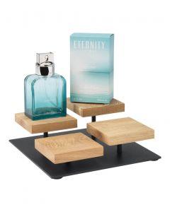 Display mit 4 Holzplatten