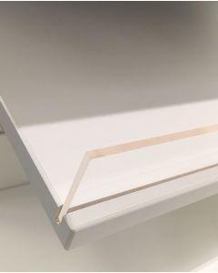 Schräges Melaminbrett - Weiß B 59 x D 27 x T 2 cm.