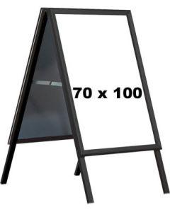 Kundenstopper- 70 x 100 cm. - Schwarz
