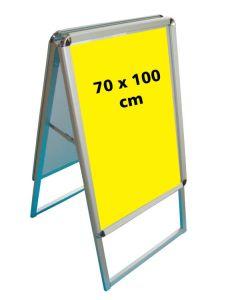Kundenstopper (70 x 100 cm.) - Runde Ecken  - Klapprahmen