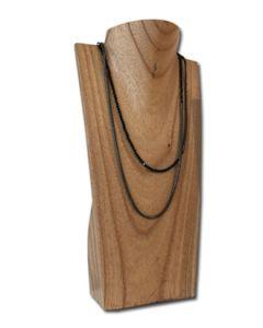 Halsschmuck-Display aus Holz - NATUR
