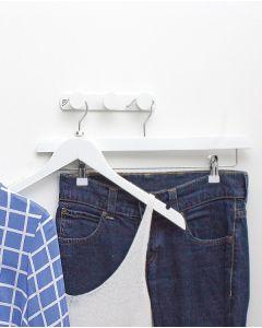 Garderobenhaken - 3 Haken- Weiß