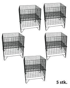Gitter-Wühlkorb - 5 stk. - Schwarz - Nancy 2
