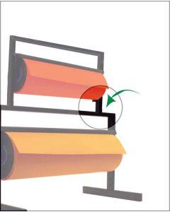 Kupplungsbeschlag für Papierabroller
