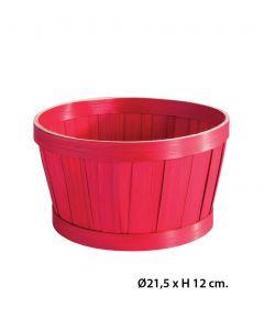 Geschenkekorb - Bambus - Ø21,5 cm.