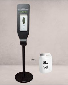 Automatischer Alkoholspender und 5 L.gel.