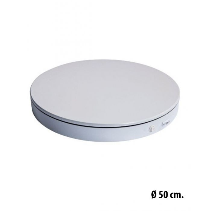Drejesokkel Ø50 cm,  360 ° visning.