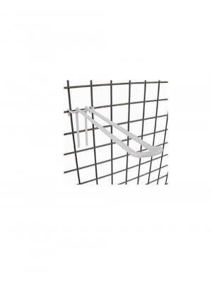 Doppelhaken - 20 cm. Für Gitter - Weiß